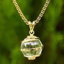 gold plated quartz pendant necklace crystalline spin quartz necklace in gold plated