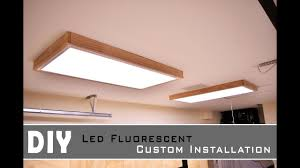 How To Change A Fluorescent Ceiling Light Installing Led Fluorescent Light In The Garage Shop