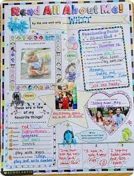 poster for school project all about me poster kindergarten for nisarg pinterest