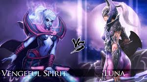 dota 2 vengeful spirit vs luna one click battle youtube