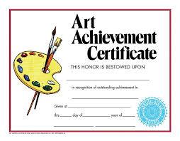 Achievement Certificate Art Achievement Certificate Va270cl Hayes School Publishing