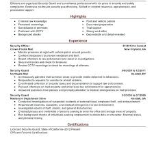 Security Guards Resume Download Security Guard Resume Sample No