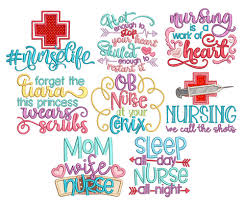 Free Machine Embroidery Sayings Designs Nurse Sayings Machine Embroidery Paper Embroidery