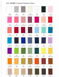 49 Colors Ployester Petersham Ribbon Color Chart All Prices