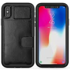 apple iphone xs apple iphone x magnetic folio leather wallet w card slot and