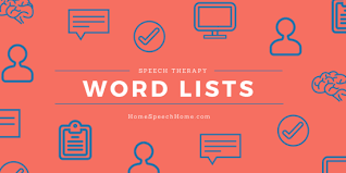 65 sch therapy word lists for sch