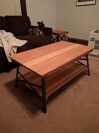redwood coffee table side build al on imgur lv