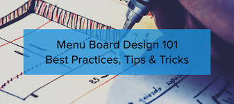 Menu Board Design Tips Menu Board Design 101 Best Practices Tips Tricks