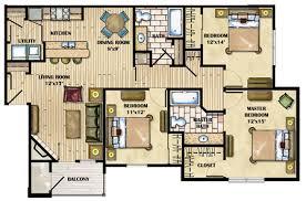luxury apartment floor plans 3 bedroom. Delighful Bedroom 3 Bedroom Throughout Luxury Apartment Floor Plans