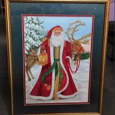 Find more Vintage Santa Print By Nadine Harper for sale at up to 90% off