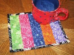 patchwork mug rug