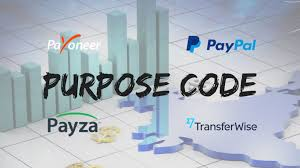 Paypal Purpose Code For Graphic Designer What Is Purpose Code For Receiving Foreign Currency Payment