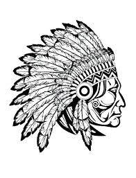 American Indian Headdress Coloring Page Carriembeckerme