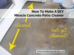 Build A Concrete Patio 2cement Cleaner Recipe1jpg
