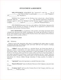 Business Investment Agreements Investment Agreement Doc Contract Template Contract Mughals 23