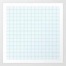 Graph Paper Art Print By Maorisakai