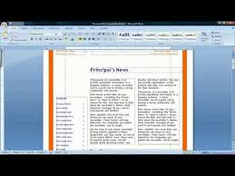 How To Make A Newspaper Template On Microsoft Word How To Make A Newspaper In Microsoft Word 2007