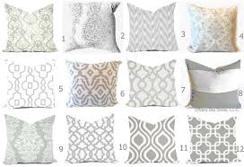 White couch pillows Wayfair Image Etsy Grey Pillow Covers Grey And White Throw Pillows Decorative Etsy
