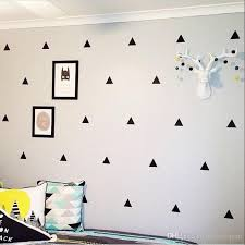 triangle wall stickers removable wall decals nursery decor wall art home decor black and white instagram room baby design new contemporary wall stickers