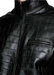 armani collezioni men latest armani collezioni shearling lining croc embossed leather jacket armani
