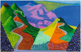 david hockney pacific coast highway and santa monica 1990 sotheby s 16 05 2018 28 453 000 auction record for the artist
