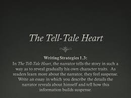 the tell tale heart by edgar allan poe ppt video online tell tale heart by edgar allan poe essay formatessay format narrator s character traitsnarrator s character traits denys his madness iuml130153 quote