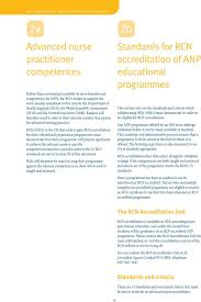 RCN Competences  Advanced nurse practitioners  An RCN guide to     DocPlayer net