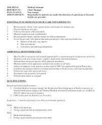 Sample Resume For Medical Office Assistant Delectable Resume For Office Assistant Description Template Free Creerpro