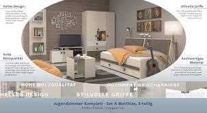 Jugendzimmer Komplett Set A Matthias 8 Teilig Farbe Creme