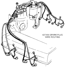 spark plug wire routing diagram view chicago corvette supply