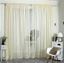 yellow striped curtains cream yellow striped linen yarn blind rod pocket top voile tulle curtains for