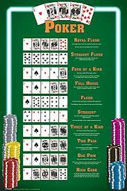 Poker Winning Hands Chart Pyramid America Winning Poker Hands Chart Game Room Cool Wall Decor Art Print Poster 12x18