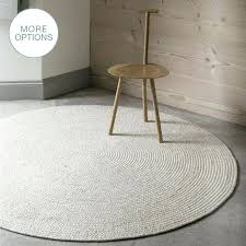modern round rug custom made cable knit modern round hand braided woven wool rug white