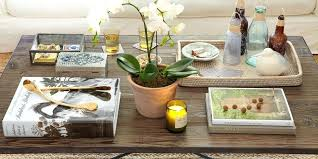 living room table decor ideas coffee table excellent rectangle wood coffee table vase tree books coffee