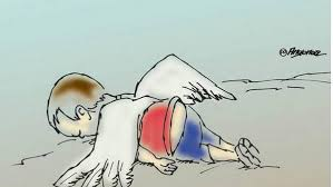 Resultado de imagen para inmigrantes niño muerto en la playa