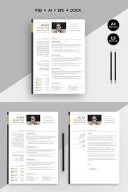 Modern Creative Resume Template Alex Martin Modern Creative Resume Template