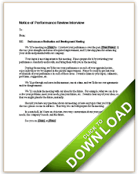 sample employee evaluations notice of performance review interview