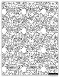 View and print full size. Happy Birthday Jumble Coloring Page Color With Jade