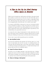 tips to set up an ideal startup office space in mumbai