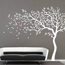 white tree wall decal nursery wall