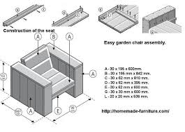 seat assembly method and construction drawings for lounge chairs and benches