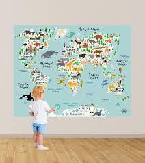 world map wall decals kids