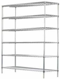 24 deep x 42 wide x 74 high 6 tier stainless steel wire starter shelving unit by omega s corporation