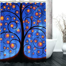 tree of life shower curtain color bursting colorful past creative