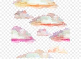 cloudscape photography watercolor painting colorful clouds