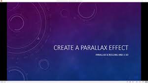 Create Parallax Effect In Powerpoint