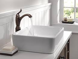 delta linden single handle vessel bathroom faucet with diamond seal technology venetian bronze 794 rb dst