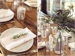 Rustic Table Decorations Dining Table