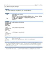 Template Word Format Resumes Corol Lyfeline Co Simple Resume File