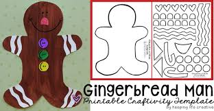 Gingerbread Man Felt Board Story Template Printable Gingerbread Man Craft Keeping Life Creative